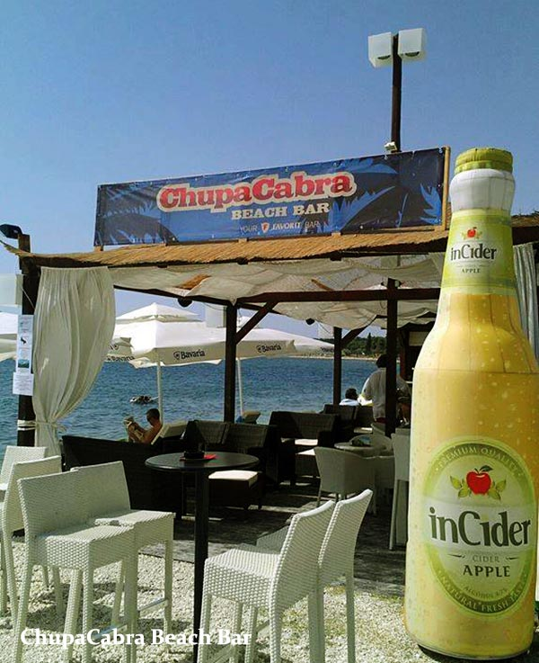ChupaCabra Beach Bar in Fazana, Istria